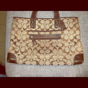 Canvas/ Leather COACH Handbag.